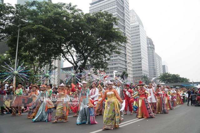 Pawai Budaya Meriahkan Puncak Kongres Kebudayaan Indonesia 2018