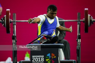 -Atlet Angkat Besi Putra 49kg asal Timor Leste Soriano Manual Lobato