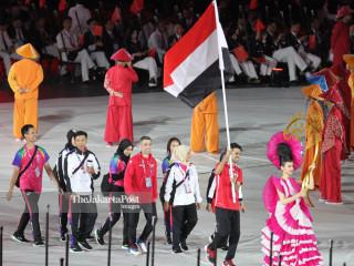-Defile Atlet Yemen dalam Upacara Pembukaan Asian Para Games 2018