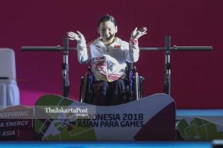 Final Angkat Berat Putri Kelas 45 Kg Asian Para Games 2018