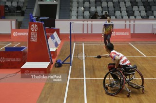 Latihan Cabor Badminton Asian Para Games 2018