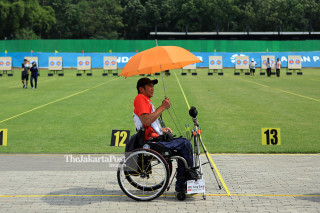 Para Archery training Asian Para Games 2018