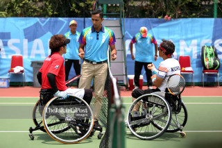 Tenis Kursi Roda Asian Para Games 2018_Jepang dan Korea