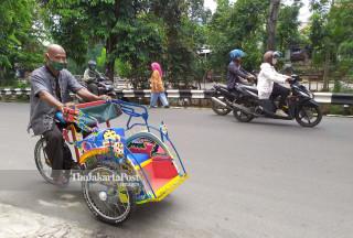 Penarik Becak Kampung Makasar
