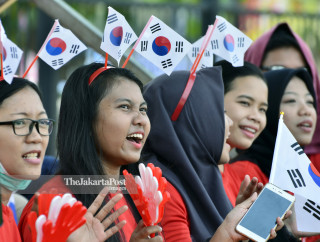 Suporter tim Korea Selatan