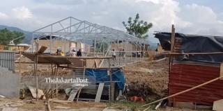 Temporary post-disaster housing in Palu