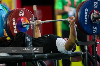 -Atlet Angkat Besi Putra 49kg asal Saudi Arabia Olymi Maysar