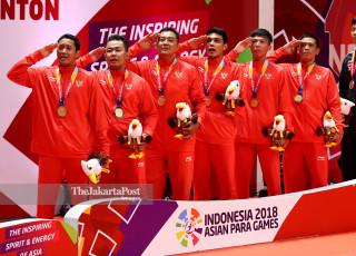 -Tim Indonesia saat Upacara Penghormatan Pemenang