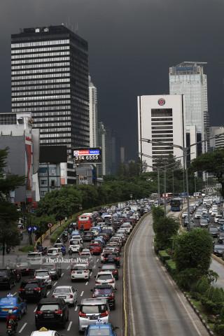 Heavy clouds in Jakarta