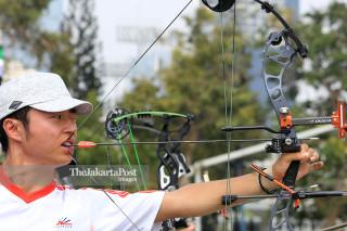 Para Archery training Asian Para Games 2018
