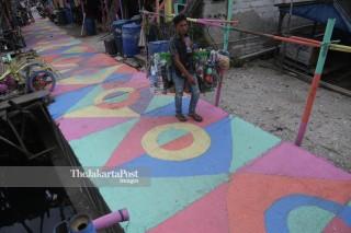 Children Playground, kampung nelayan, Kamal Muara, Jakarta Utara