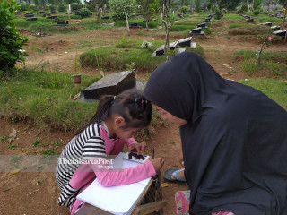 Home Schooling from Cemetery
