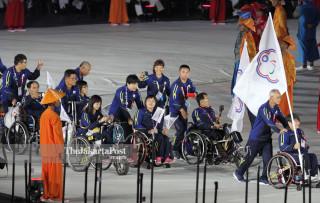 -Defile Atlet Chinese Taipei dalam Upacara Pembukaan Asian Para Games 2018