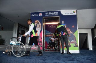 Asian Para Games arrival simulation