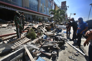 Penjarahan pusat perbelanjaan Palu Grand Mall, Sulawesi Tengah,