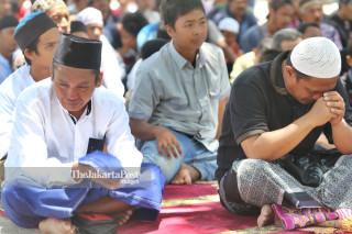 Masjid Agung Darussalam Palu mengalami kerusakan cukup parah setelah terjadi gempa