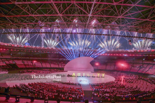 Asian Paragames 2018 opening fireworks