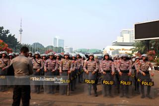 Pengamanan Paska Aksi Mahasiswa - Senayan