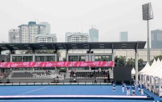 Venue Lawn Bowls untuk asian para games di Jakarta.