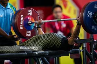 -Atlet Angkat Besi Putra 49kg asal Jepang Mura Hiroshi