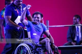 -Atlet Angkat Besi Putra 49kg asal India Parmjeet Kumar