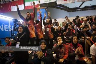 Goal Ball Asian Para Games 2018 - Pendukung Tim Iran