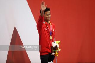 PARA SWIMMING - Putra 100m - Gaya Punggung - Indonesia - Medali Emas