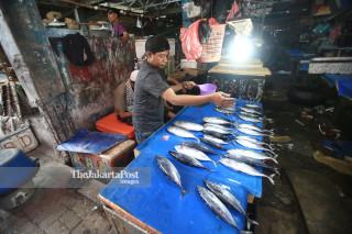 Suasana pasar kembali buka di Pasar Tradisional Masomba Lolu Palu Selatan Sulawesi Tengah