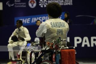 -wheel Chair Fencing Asian Para Games 2018