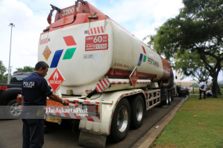 Pertamina tank trucks was hijacked