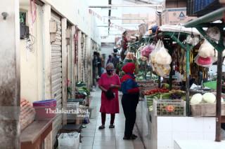 Pedagang Pasar merugi