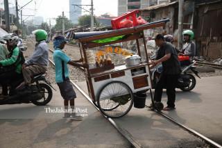Suasana kawasan Petamburan Jakarta