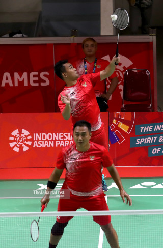 -Beregu putra Asian Para Games 2018 Indonesia vs Hongkong China
