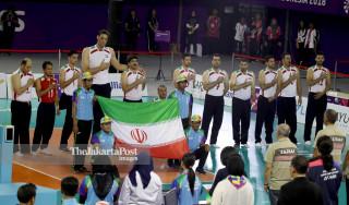 -Voli duduk putra Iran vs Korea