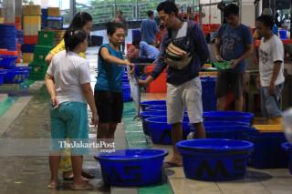 The new Muara baru Fish Market