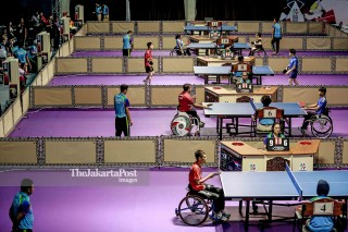 The venue of Table tennis on Ecovention Ancol