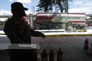 fuel tanker caught fire
