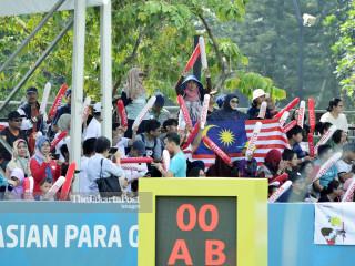 Suporter panahan tim Malaysia