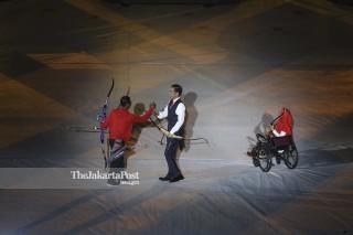 Presiden Joko Widodo pada Pembukaan Asian Para Games 2018