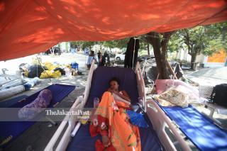 korban di Rumah Sakit Undata, Palu, Sulawesi Tengah