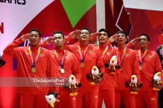 Badminton beregu putra Asian Para Games 2018_INA