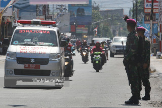 TNI Marinir di kota Palu, Sulawesi Tengah