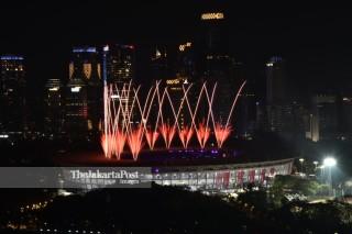 kembang api pembukaan Asian Para Games 2018