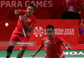 -Beregu putra Asian Para Games 2018 Indonesia vs Hongkong China