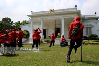Para games Athletes on state palace