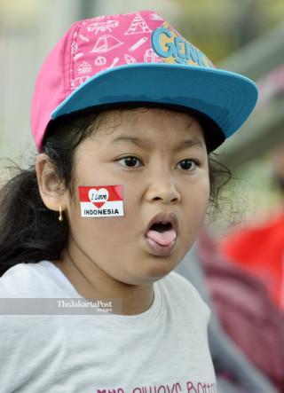 Suporter cilik panahan Indonesia