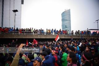 Aksi Mahasiswa Jakarta Menolak RKUHP dan UU KPK