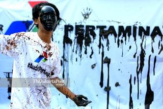 Unjuk rasa tumpahan minyak pertamina