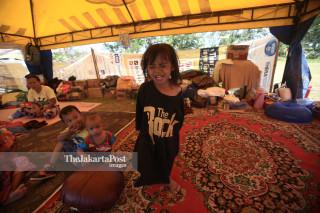 Pengungsi korban gempa dan tsunami Palu Sulawesi Tengah