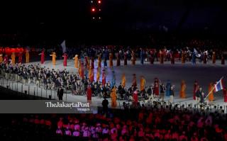 Defile Atlet Thailand  pembukaan Asian Para Games 2018